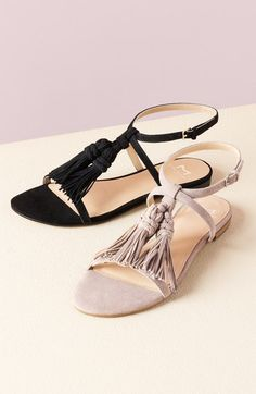 59e47081d7b7cb Free shipping and returns on Marc Fisher LTD  Crystal  Tassel Flat Sandal ( Women