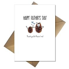 Cute Fathers Day Card - Thank You for Raisin me! Funny Pun for Your Dad Funny Fathers Day, Fathers Day Cards, Happy Fathers Day, Cute Birthday Cards, Dad Birthday Card, Funny Puns, You Funny, Funny Cards, Printable Cards
