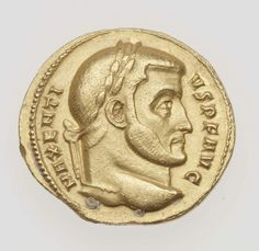 Aureus with head of Maxentius. Roman , A.D. 307–312. Gold