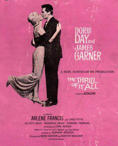 Doris Day, James Garner, Arlene Francis. Director: Norman Jewison. IMDB: 7.0 ________________________ https://en.wikipedia.org/wiki/The_Thrill_of_It_All https://www.rottentomatoes.com/m/the_thrill_of_it_all/ http://www.tcm.com/tcmdb/title/4406/The-Thrill-of-It-All/ Article: http://www.tcm.com/tcmdb/title/4406/The-Thrill-of-It-All/articles.html http://www.allmovie.com/movie/the-thrill-of-it-all!-v49785