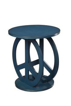 Peace Sign End Table - Blue by Furniture Deals For Every Style on @HauteLook