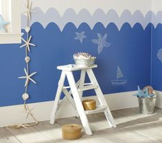 SO COOL!!! Create a giant seascape in kids' play area. They'll love adding details in chalk to create their own panorama over and over. Our modular decals allow you to attach multiples so that the mural can be as large as you want it to be.