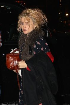 Home for the night: Helena Bonham-Carter was spotted returning to her temporary New York digs Monday night as she continues to film Ocean's Eight in the city
