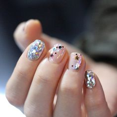 Cool Star Nail Art Designs With Lots of Tutorials and Ideas Glitter Manicure, Manicure E Pedicure, Glitter Gel, Manicure Ideas, Glitter Makeup, Glitter Eyeshadow, Star Nail Art, Star Nails, Simple Nail Designs