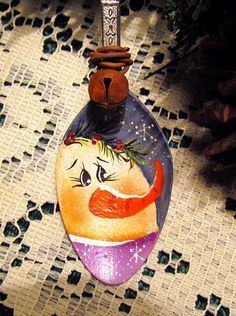 Your place to buy and sell all things handmade Painted Christmas Ornaments, Christmas Art, Christmas Projects, Christmas Decorations, Christmas Ideas, Fall Crafts, Holiday Crafts, Diy Crafts, Painted Spoons