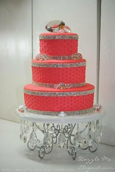 4 Row Crystal Cake Banding  Sold by the by TheCakeTopperShoppe, $8.99