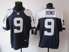Nike Dallas Cowboys 9 Tony Romo Blue Signed Elite NFL Jerseys Cheap