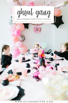 A modern twist to a Halloween bash! Pink halloween party is so popular and we hope you can find everything you need for you little girls halloween bash