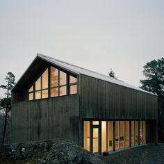 Plus House is a pre-fab two-storey house by Swedish architects Claesson Koivisto Rune