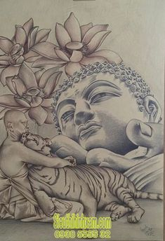 Lotus flowers meanings can take on a devout meaning of ascension, enlightenment, or rebirth. Buddhist Symbol Tattoos, Hindu Tattoos, Buddhist Symbols, Buddha Tattoos, Arm Tattoos, Sleeve Tattoos, Flor Tattoo, Lotus Tattoo, Tattoo Ink