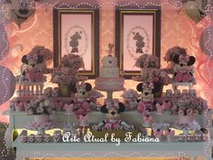 Uma repaginada na clássica decoração Minnie Rosa, deixou o aniversário da Beatriz de 2 ...
