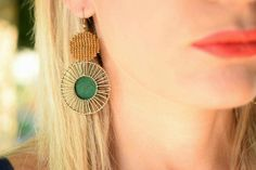 Geometric Earrings by Nymphe Handmade Jewelry  www.facebook.com/nymphs.handmade.jewelry/? #earrings #handmadejewelry #jewelry #outfit