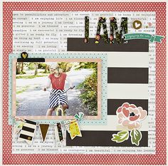 #papercraft #scrapbook #layout - NEW! Simple Stories I AM... - Scrapbook.com