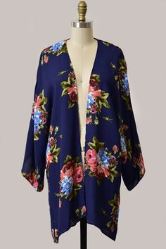 Only a few left in this fun floral print!// Navy Cardigan $34   Comment below with PayPal to purchase and ship or comment for 24 hour hold  #repurposeboutique#loverepurpose#hipandtrendy#shoprepurpose#boutiquelove#falltransition#style#trendy#fall#backtoschool#floral#cardigan