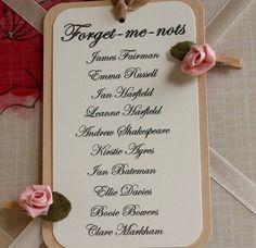 wedding table plan cards by claryce design | notonthehighstreet.com