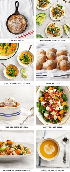 Seriously, everyone's doing recipe roundups today. So what am I doing? Rounding up the recipe roundups. This one has: apple pancakes, miso-sweet potato tacos, curried sweet potato soup, apple muffins, pumpkin bread pudding, sweet potato salad, butternut squash risotto, and coconut pumpkin soup.