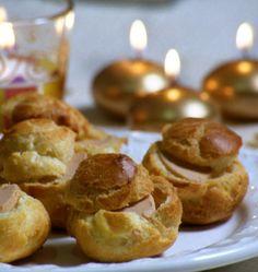 Gougères farcies au foie gras – Noël - les meilleures recettes de cuisine d'Ôdélices