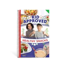 """8 ½"""" x 5 ½"""", 34 pages, spiral bound book Looking for simple and healthy snacks for kids that will happily give their stamp of approval? The Kid Approved Healthy Snacks Cookbook is an essential tool for any parent who has ever wondered how to create healthy snacks with their children and get their kids to eat them. The cookbook features tasty and easy-to-prepare snacks that feature fruits and vegetables that kids will love to make and eat. Recipe instructions are easy to follow and feature beauti Nutrition And Dietetics, Proper Nutrition, Nutrition Guide, Nutrition Education, Kids Nutrition, Health And Nutrition, Warm Up Games, Healthy Eating Guidelines, Healthy Grains"""