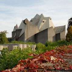 Wuppertal/Neviges  Brutalist buildings: Pilgrimage Church,  Neviges by Gottfried Böhm