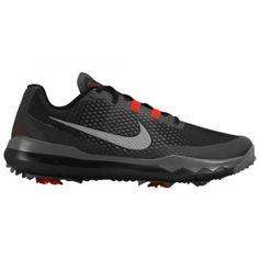 Nike TW  15 Golf Shoe - Men s - Golf - Shoes - Black White Challenge Red Dark  Grey-sku 4884001 9d4004129de