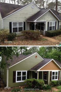 This sweet Atlanta bungalow gets a new lease on life with all new siding, windows, shutters and roof. What a makeover! | EXOVATIONS of Atlanta, Georgia