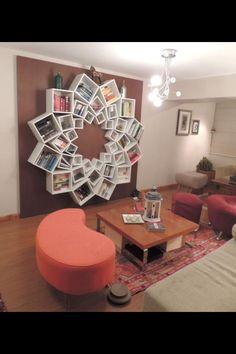 Such a cute DIY shelf system!!