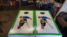 Custom corn-hole boards New England Sports teams edition