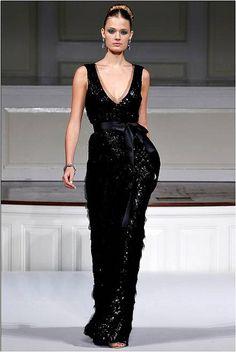 long black dress (elegant bridesmaids)