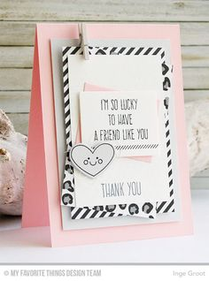 Whimsical Greetings, Lucky, Lucky Die-namics - Inge Groot  #mftstamps