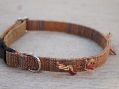 Brown Classic Cat Collar by CatPomPoms on Etsy