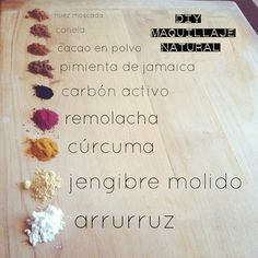 Maquillaje con ingredientes naturales