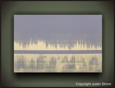 Sands-------Original Abstract Painting by Justin Strom Large 36 x 24 Deep Gallery Canvas Free Shipping US And Canada. $169.00, via Etsy.