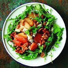 Pink grapefruit salad with walnuts - Eat Your Books is an indexing website that helps you find organize your recipes. Click the View Complete Recipe link for the original recipe. Grapefruit Salad, Pink Grapefruit, Eat Your Books, Walnut Recipes, Walnut Salad, Complete Recipe, Recipe Link, Original Recipe, Salad Recipes