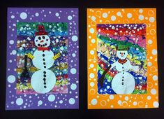 love the border Winter Art Projects, School Art Projects, School Ideas, Kindergarten Art, Preschool Art, Painting For Kids, Art For Kids, 2nd Grade Art, Holiday Crafts For Kids