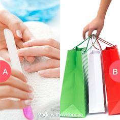 Nails or Shopping Spree? Click here to vote @ http://getwishboneapp.com/share/3444019