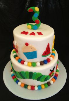 Birthday cake for my 3 year old Did it Pinterest Birthday