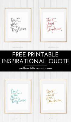 Free Printable Inspi