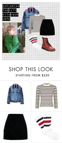 """""""Exploring the city with your hope"""" by taewithsuga on Polyvore featuring Jamie Wei Huang, Theory, Gucci en Dr. Martens"""