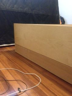 "HACK THE MALM. Great hack for raising the low Ikea Malm platform bed. Just raise it with 4""x6"" woods and secure the whole thing with plates!"