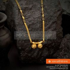 A very typical and traditional design Indian Jewelry Sets, Indian Wedding Jewelry, Bridal Jewelry, Gold Chain Design, Gold Jewellery Design, Gold Jewelry, Gold Mangalsutra Designs, Necklace Designs, Traditional Design