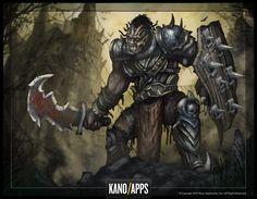 Viking Clan boss - The Orc King, Jose Brand Warhammer Fantasy, Dungeons And Dragons, Game Art, Vikings, Concept Art, Boss, Photoshop, Sword, Artwork