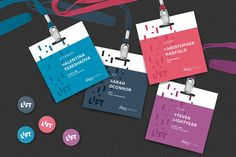 LIFT – Conference Materials I have some more new work to share. I've just updated my portfolio with some of the materials and extended branding for the LIFT Newspace Startup Week identity. Check out the full case study: htt. Name Tag Design, Id Design, Badge Design, Event Design, Conference Badges, Conference Branding, Design Conference, Stationery Design, Brochure Design