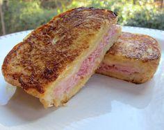 Monte Cristo Sandwich (french toast, ham, and swiss cheese)