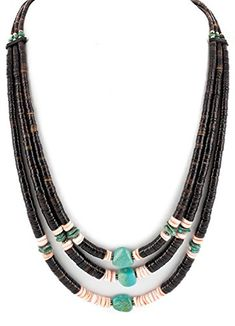 $380 Retail Tag 3 Strand Authentic Made by Charlene Little .925 Sterling Silver Navajo Natural Graduated Heishi Spiny Oyster and Turquoise Native American Necklace. Native-Bay has the largest online selection of Authentic ONLY Native American Jewelry. All stones used are Natural and hand-picked by the Native American artist. NEW condition with retail tag still attached. You will receive what you see in pictures, if the item is a pendant and it is photographed with a chain attached, you will…
