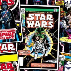 Star Wars Comic Book Covers Fleece Fleece Fabric by the yard