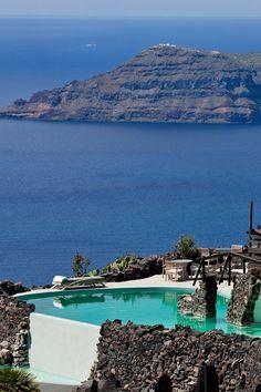 Take a dip in Santorini's largest infinity pool. #Jetsetter