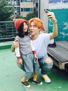 Jimin with Kids Model Lee Nam Gyeong