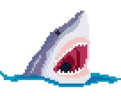 shark cross stitch