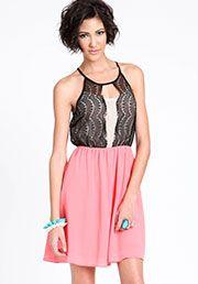 Lace Scallop Dress:$32.90