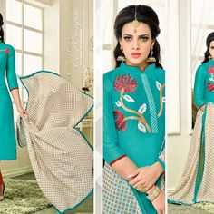 Chanderi Suits  Some have Embroidery on Duppatta..  *INR -  850/-* Order now @  +918898889404